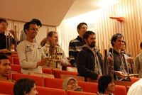 Playing angklung together