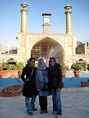 Nabilah, Saeede, and I in front of the mosque