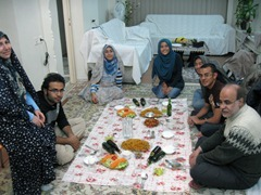 Awesome dinner with Majid's family