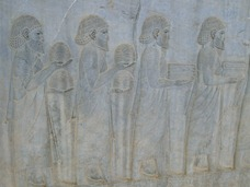 Carved reliefs of Ionian Tribute Bearers