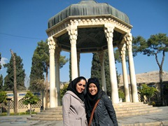 Ainaz and I at Tomb of Hafez
