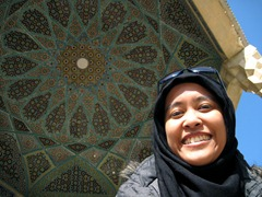 me at the tomb of Hafez
