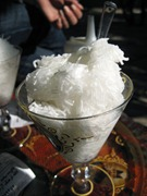 Faloodeh, Shirazi dessert, sold at the complex of Hafez's tomb