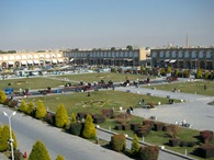 The view of Imam Square from the Ali Qapu Palace