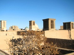 City of Yazd as seen from the rooftop of a stranger's house
