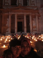 Asti and I in front of the Treasury, Petra