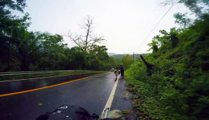 Riding from Phang Nga to Natai Beach