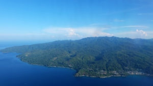 Ambon island from the sky