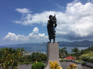The statue and monument of Martha Christina Tiahahu