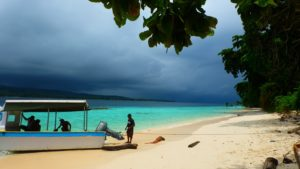 One of the islands (Pulau Tujuh)