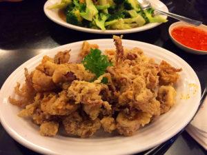 Fried flour-coated-squid (sotong goreng tepung)