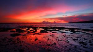 Sunset view from Bara Beach