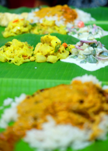 Banana leaf rice at Devi's Corner