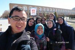Some school kids in Esfahan