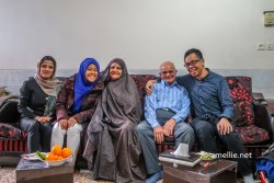 With Jamileh & her family in Yazd