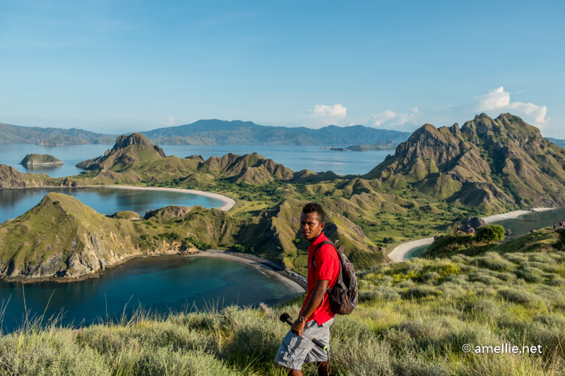 Our guide, Jo, on top of Padar Island