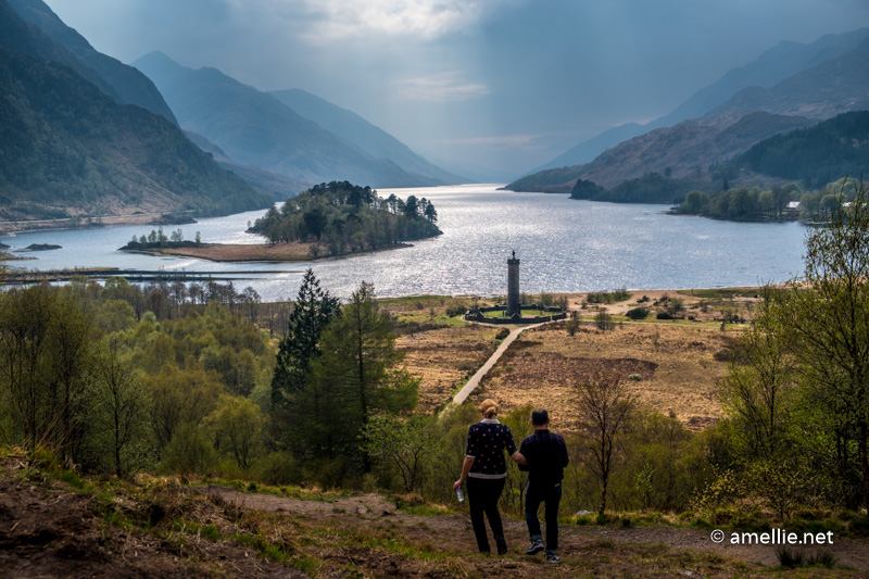 The view of Glenfinnan from its viewpoint